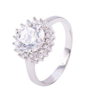 """Сребърен пръстен """"Диамант"""""""